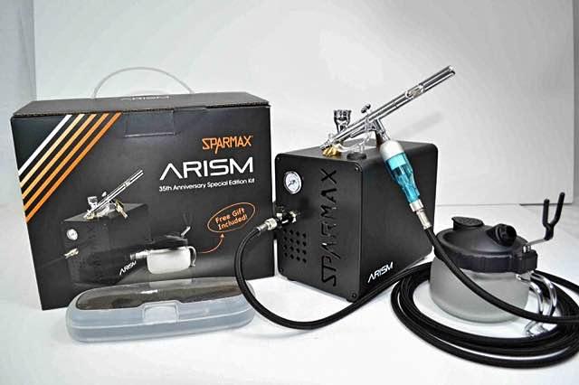 arism airbrush set mit kompressor zum superpreis. Black Bedroom Furniture Sets. Home Design Ideas